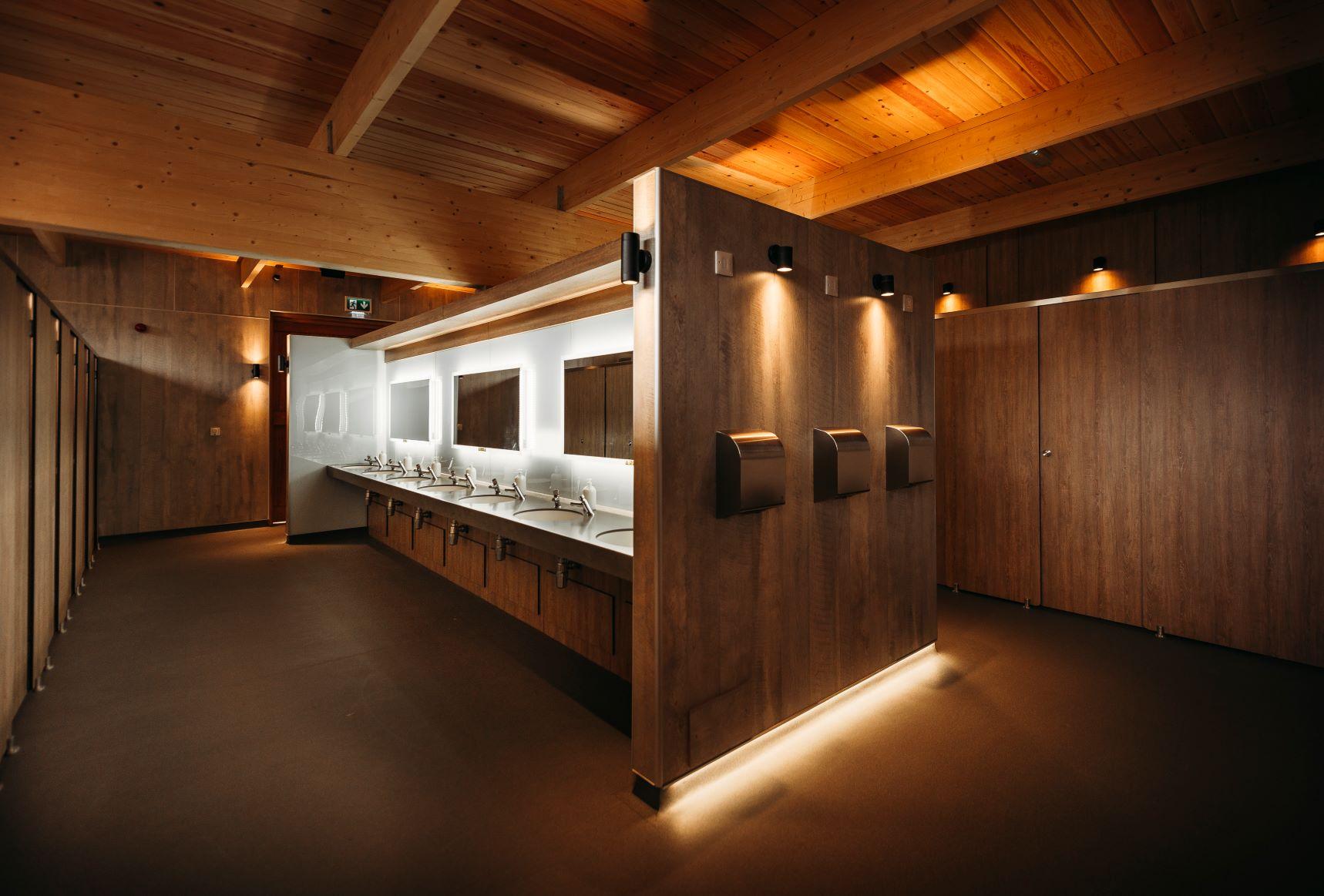 B. Interior new shower complex